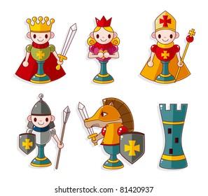 cartoon chess isolated