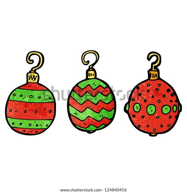 Cartoon Christmas Baubles Royalty Free Stock Image