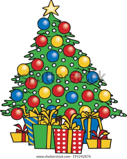 Cartoon Christmas Tree Gifts Underneath Stock Vector Royalty Free 195242876 Find professional christmas tree 3d models for any 3d design projects like virtual reality (vr), augmented reality (ar), games, 3d visualization or. https www shutterstock com image vector cartoon christmas tree gifts underneath 195242876