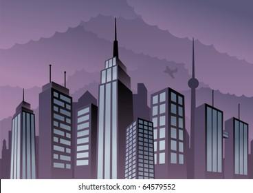 Cartoon city.