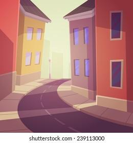 Cartoon City Street