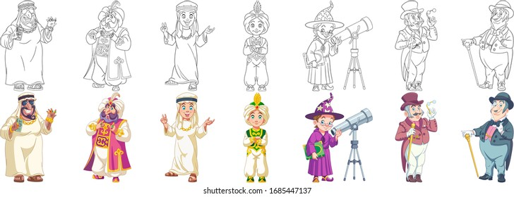 Cartoon clip art. Cute designs for kids activity coloring book, t shirt print, icon, logo, label, patch or sticker. Vector illustration.