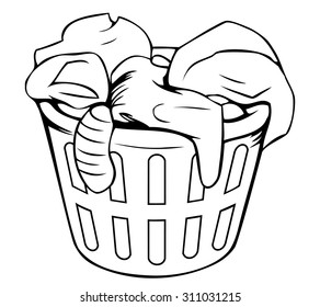 Cartoon clothes basket