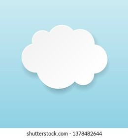 Cartoon  Cloud And Blue Background, Vector Illustration