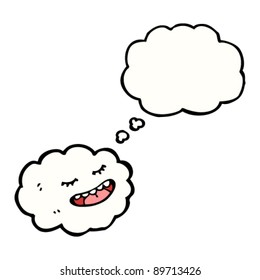 cartoon cloud with happy face