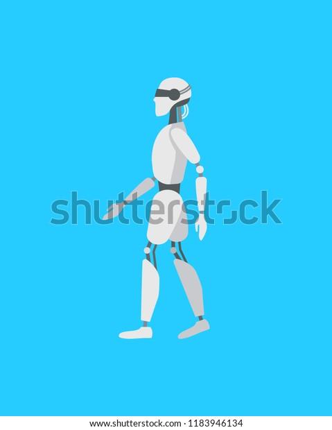 Cartoon Color Android Robot Cyborg Technology เวกเตอร์สต็อก (ปลอดค่า
