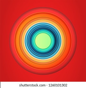 Cartoon colorful Circles Tunes background