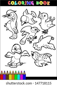 Cartoon Coloring Book Illustrations Series For Young Children