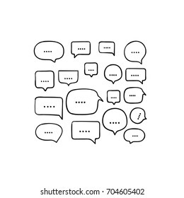 cartoon comic bubble. speech bubble. Speech Bubble set with doodle style