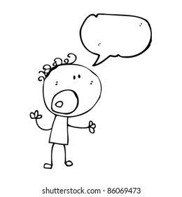 cartoon complaining doodle person