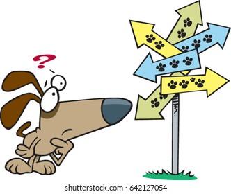cartoon confused puppy dog