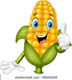 Cartoon corn giving thumbs up