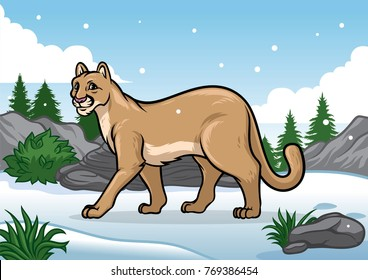 cartoon cougar images stock photos vectors shutterstock rh shutterstock com cartoon cougar clipart cartoon cougar running