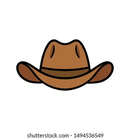 Cartoon Cowboy Hat Vector Illustration