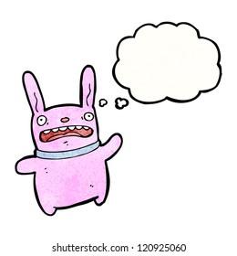 cartoon crazy pink rabbit