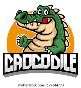 cartoon of crocodile mascot