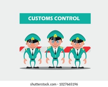 Cartoon Customs Control