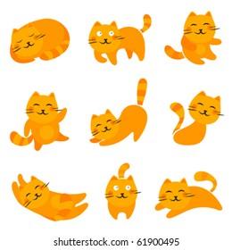 cartoon cute cats