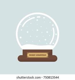 cartoon cute christmas snowglobe