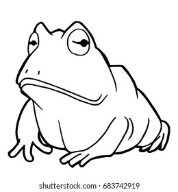 Paw Print Frog Coloring Pages Vector Stock Vector Royalty Free