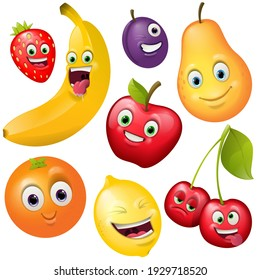 Cartoon cute fruts character collection