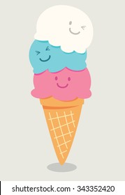 cartoon cute ice cream