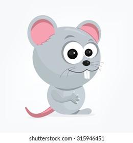 cartoon of a cute mouse