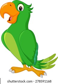 Cartoon cute parrot