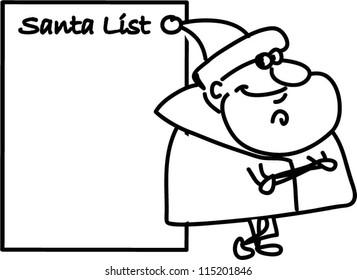 Cartoon cute Santa