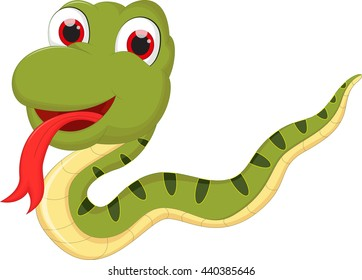 cartoon cute snake cartoon for you design