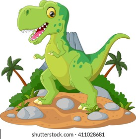 Cartoon Cute tyrannosaurus cartoon