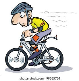 Cartoon Cyclist.