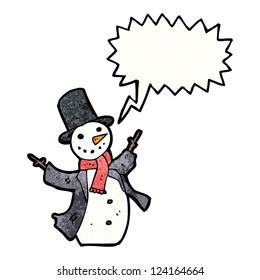 cartoon dancing snowman