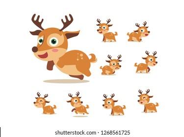 Cartoon deer cute baby