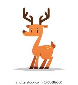 Cartoon deer vector isolated illustration
