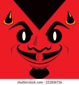 Cartoon Devil Face