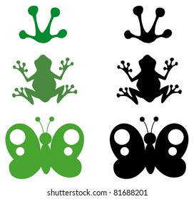 Cartoon Different Silhouettes.Vector Collection