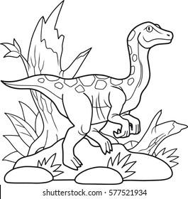 royalty free walking dinosaur images stock photos vectors Dinosaur Valley State Park Cabins cartoon dinosaur gallimimus went for a walk