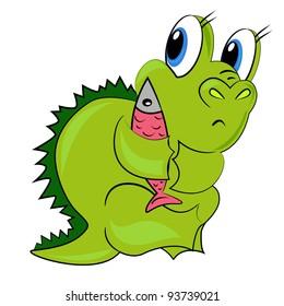 cartoon dinosaur.vector dragon isolated character