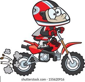 Cartoon dirt bike rider