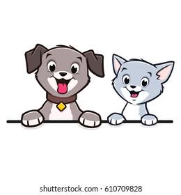 Cartoon Dog Cat Animal Frame  Border