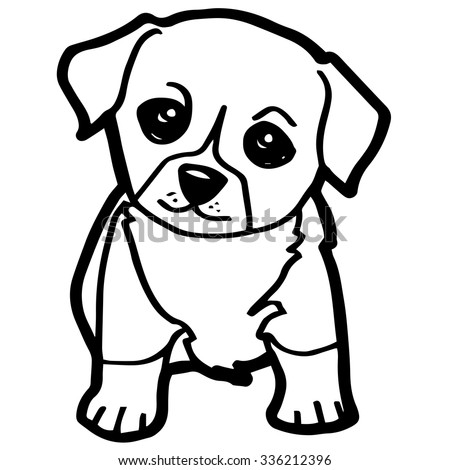 Cartoon Dog Coloring Page