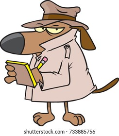 "cartoon dog dressed up like a detective ""watchdog"""