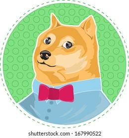 cartoon dog Shiba Inu