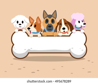 Image of: Funny Dogs Cartoon Dogs With Bone Sign Shutterstock Cartoon Dog Images Stock Photos Vectors Shutterstock