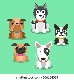 Cartoon dogs standing