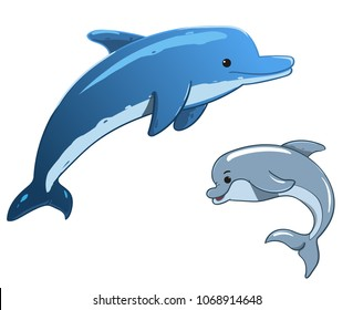 dolphin cartoon images stock photos vectors shutterstock rh shutterstock com dolphin fish cartoon images baby dolphin cartoon images