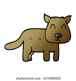 cartoon doodle calm dog