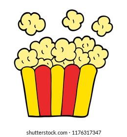 cartoon doodle cinema popcorn