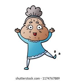 Dancing Old Lady Cartoon Stock Vectors, Images & Vector ...